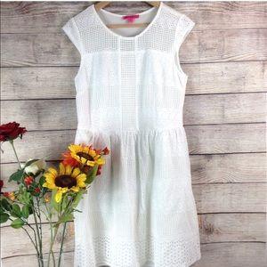 Betsey Johnson white mesh dress